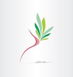 Breast cancer healthy breast icon vector