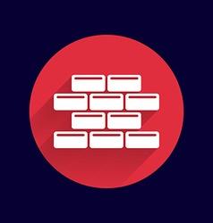 Brick wall icon button logo symbol vector