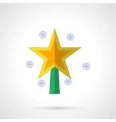 Bright Xmas star flat color icon vector image vector image