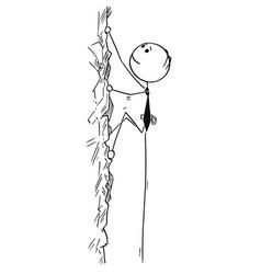 conceptual cartoon of businessman climbing vector image