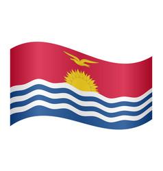Flag of kiribati waving on white background vector