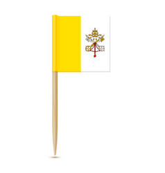 Flag of vatican city flag toothpick on white vector