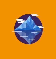 Geometric abstract iceberg vector image vector image