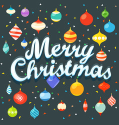 merry christmas xmas greeting card with color vector image
