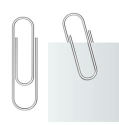 Metal paper clip vector