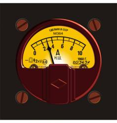 old-fashioned ampermeter vector image vector image