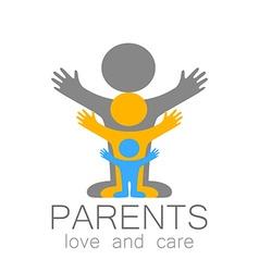 Parents love care logo vector
