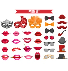 Party Icons Set In Retro Style vector image vector image
