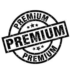 Premium round grunge black stamp vector