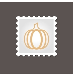 Pumpkin stamp outline vector