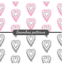 romantic hearts vector image