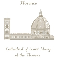 Saint mary of the flowers cathedral vector