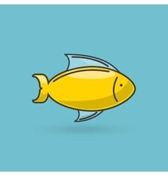 sea animal flat icon design vector image