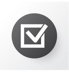 Task icon symbol premium quality isolated check vector