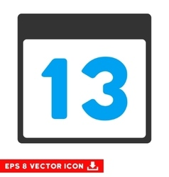 Thirteenth calendar page eps icon vector