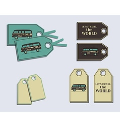 Travel and Camping brand identity labels - vector image