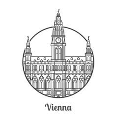 Travel vienna icon vector