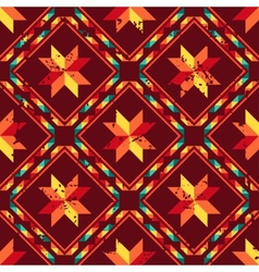 Tribal abstract seamless pattern aztec geometric vector image vector image