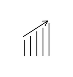 up chart icon vector image vector image