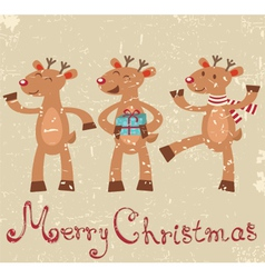 Reindeers Christmas card vector image