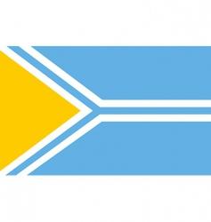 tuva flag vector image