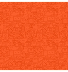 Red line programming seamless pattern vector