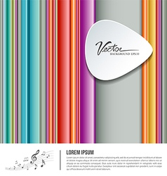 Colorful background pick music design vector