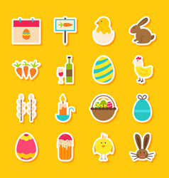 Spring easter stickers vector