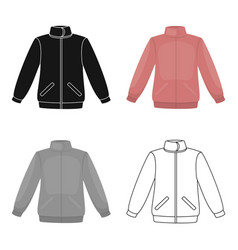 jacket icon of for web and vector image
