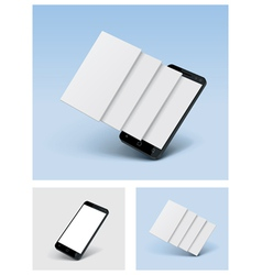 Smartphone icon with blank screens vector