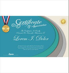 Modern colorful certificate or diploma template vector