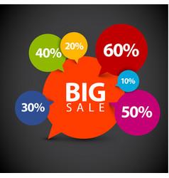 Speech bubble pointer for sale item vector