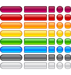 Simple blank buttons vector