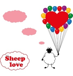 Sheep love vector