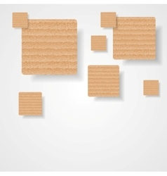 Graphic background of cardboard squares vector