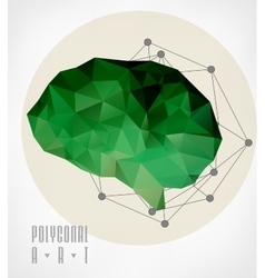 Abstract polygonal brain vector image