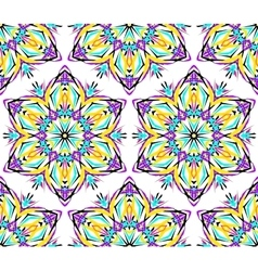 Thin kaleidoscopic flower pattern vector
