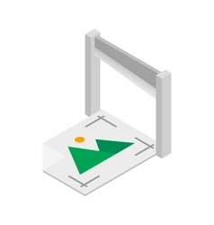 Document printed on a printer icon vector