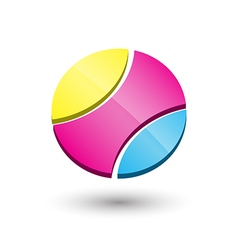 Abstract circle 3d icon logo template design vector