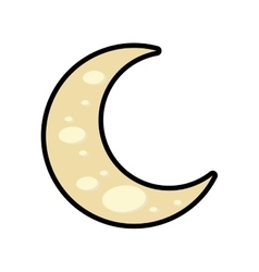 Moon icon night design graphic vector