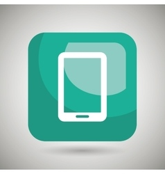 Smartphone square button isolated icon design vector