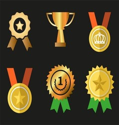 Awards icons symbol set vector