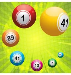 bingo ball on green starburst vector image vector image
