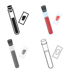 Blood test icon cartoon single medicine icon from vector