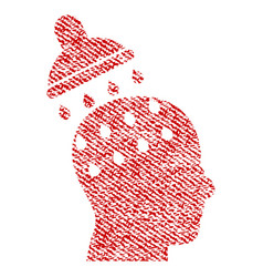Brain washing fabric textured icon vector