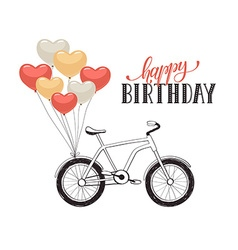 Cartoon bike with balloons vector image