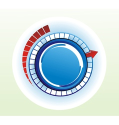 Circular switch vector image vector image