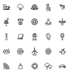 Clean concept line icons on white background vector