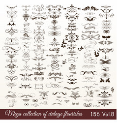 collection or set of vintage styled flourishes vector image vector image