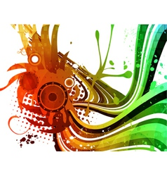 colorful grunge background vector image vector image